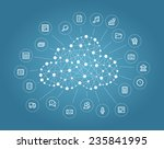 cloud computing concept | Shutterstock .eps vector #235841995