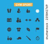 gym sport icons  signs set ... | Shutterstock .eps vector #235842769