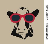 vector image of a cow wearing...   Shutterstock .eps vector #235845601