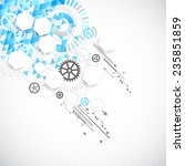 abstract technological... | Shutterstock .eps vector #235851859