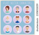 flat characters icon. vector... | Shutterstock .eps vector #235853059