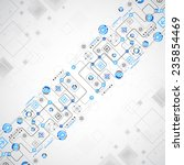 abstract technology concept of... | Shutterstock .eps vector #235854469