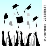 graduation | Shutterstock .eps vector #235855654