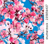 seamless pattern of spring... | Shutterstock . vector #235856437