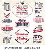 christmas greeting card badges... | Shutterstock .eps vector #235856785