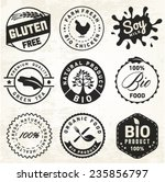 natural organic labels and... | Shutterstock .eps vector #235856797