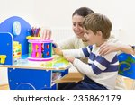 mother playing with her child...   Shutterstock . vector #235862179