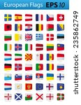 european flags | Shutterstock .eps vector #235862749
