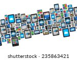 mobility and digital wireless... | Shutterstock . vector #235863421