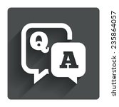 question answer sign icon. q a...