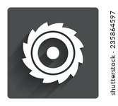 saw circular wheel sign icon....