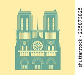 paris cathedral silhouette icon....   Shutterstock .eps vector #235873825