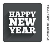 happy new year text sign icon....
