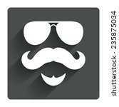 mustache and sunglasses sign...