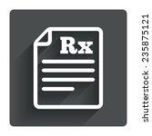 medical prescription rx sign...