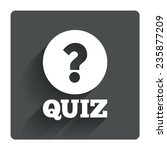 quiz with question mark sign...