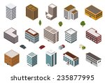 isometric building collection | Shutterstock .eps vector #235877995