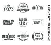 set of nine bakery vector... | Shutterstock .eps vector #235878565