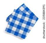 folded napkin isolated on white ... | Shutterstock . vector #235884391