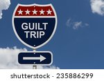 guilt trip this way  blue  red... | Shutterstock . vector #235886299