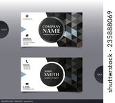 business card template  modern... | Shutterstock .eps vector #235888069