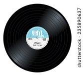 new gramophone vinyl lp record... | Shutterstock .eps vector #235890637