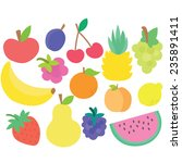 fruits set | Shutterstock .eps vector #235891411