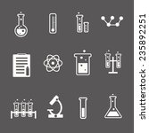 set of white science and... | Shutterstock .eps vector #235892251