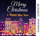 christmas cards or bookmarks | Shutterstock .eps vector #235896739
