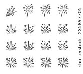 Firework Icon Set  Vector Eps10.