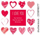 valentin's day card  hearts... | Shutterstock .eps vector #235898077