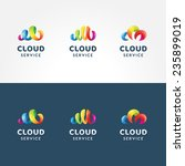 set of colorful 3d iconic logo... | Shutterstock .eps vector #235899019