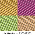 modern set 4 style color... | Shutterstock .eps vector #235907539