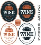 set of vector labels for wine... | Shutterstock .eps vector #235911427