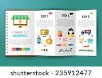online shopping e commerce flat ... | Shutterstock .eps vector #235912477