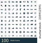 auto icon on white background  | Shutterstock . vector #235912591