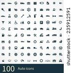 auto icon on white background  | Shutterstock . vector #235912591