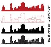 vienna  wien skyline | Shutterstock .eps vector #235914019