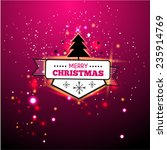 fire bokeh christmas. vector... | Shutterstock .eps vector #235914769