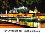 Nigth Salzburg In Austria