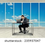 concentrated businessman... | Shutterstock . vector #235937047