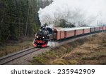 STOCKHOLM, DEC 6: The Steamtrain S1 going in full Steam between Stockholm and Nynashamn during Christmas. Stockholm, December 6 in 2014. Delivered to SJ (Statens Jarnvagar) in 1952 (SN 1921). - stock photo