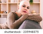 young woman is overcoming... | Shutterstock . vector #235948375