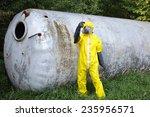contamination   technician in... | Shutterstock . vector #235956571