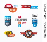 sale tags banners vector set.... | Shutterstock .eps vector #235959184
