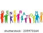 generations concept with people ... | Shutterstock .eps vector #235973164
