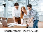 young business people discuss... | Shutterstock . vector #235977331