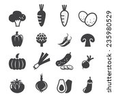 vegetables icon set | Shutterstock .eps vector #235980529