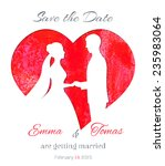 save the date invitation card... | Shutterstock .eps vector #235983064