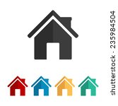 home    vector icon  flat design | Shutterstock .eps vector #235984504